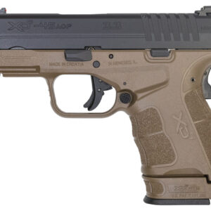 Springfield XDS Mod.2 3.3 Single Stack 45 ACP Pistol with Fiber Optic Sight and Two Tone FDE/Black Finish