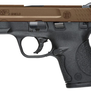 Smith & Wesson M&P9 Shield 9mm Centerfire Pistol with Thumb Safety and Bronze Cerakote Slide
