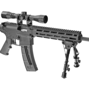 Smith & Wesson M&P15-22 Sport OR 22LR with 4×32 Riflescope and Caldwell XLA Bipod